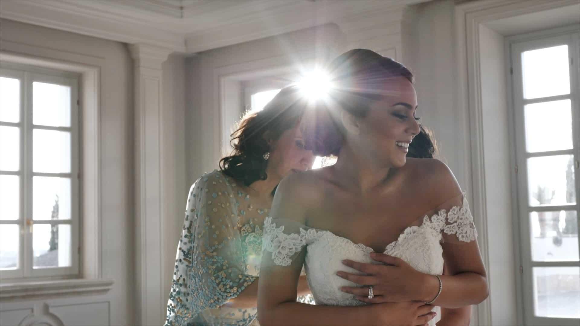 matrimonio lussuoso arabo preparativi della sposa a Villa Miani