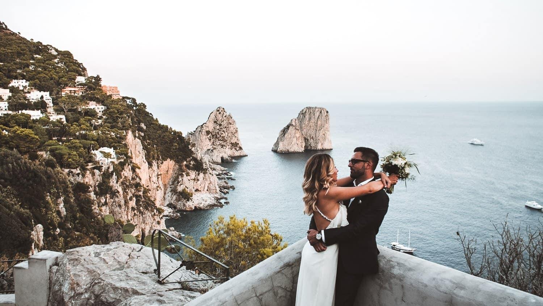 Matrimonio Costiera Amalfitana panorama Capri